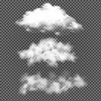 Nube de cielo aislado. vector realista