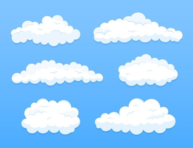 Nube de diseño plano en la colección del cielo