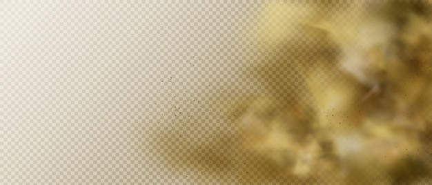Nube de polvo o humo, fondo de vapor de vapor de smog pesado marrón