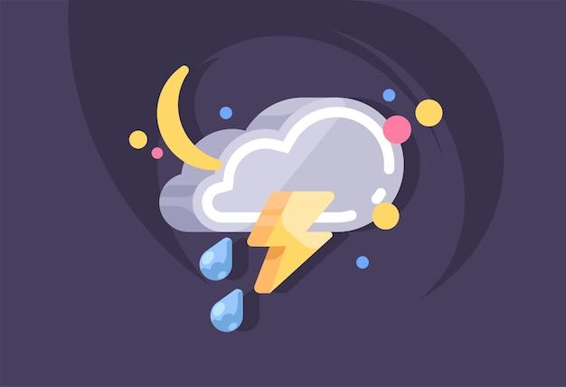 Nube. tiempo, plantilla de concepto de meteorología.