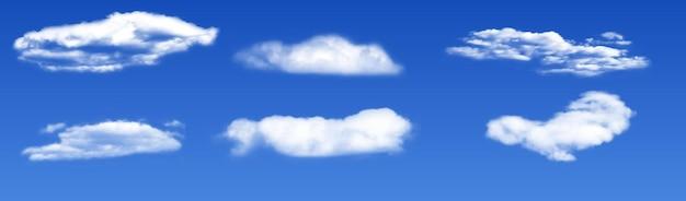 Nubes blancas 3d realistas