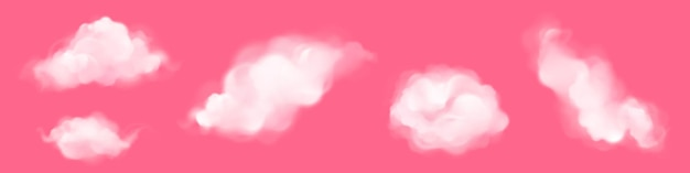 Nubes blancas aisladas