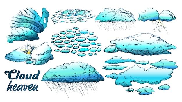 Nubes en clima diferente establecer color