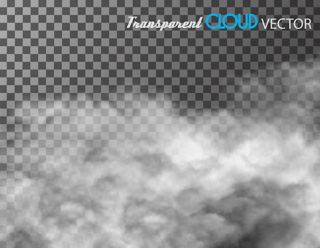 Nubes sobre fondo transparente.