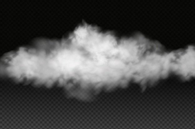 Nubosidad, niebla o humo del vector blanco.