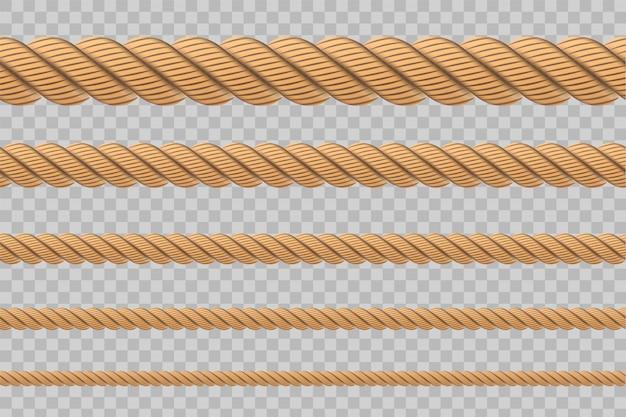 Nudos de cuerda retorcidos náuticos, bucles.