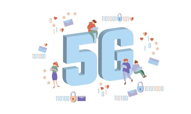 Nueva conexión inalámbrica a internet 5g.