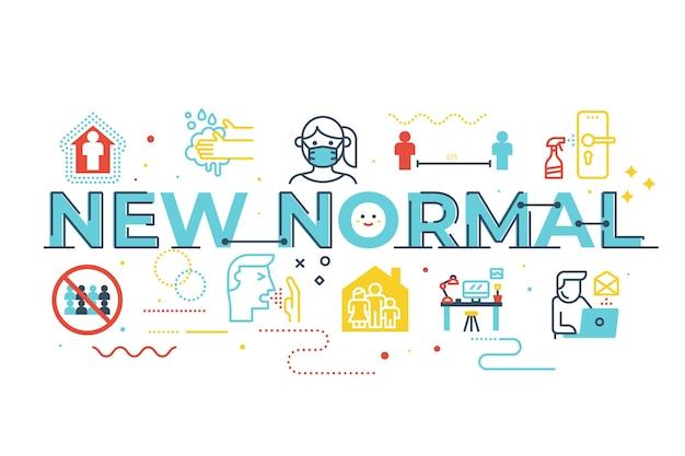 Nueva ilustración de letras de palabras normales