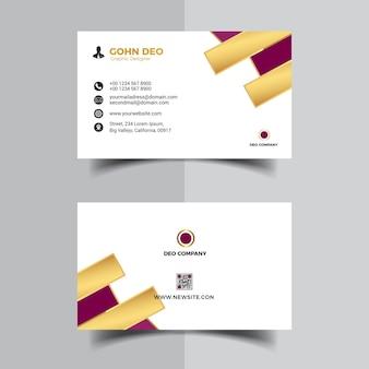 Nueva plantilla de diseño de tarjeta de visita