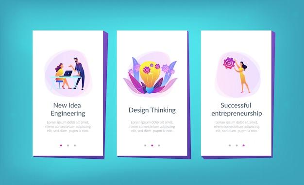 Nueva plantilla de interfaz de la aplicación de ingeniería de ideas