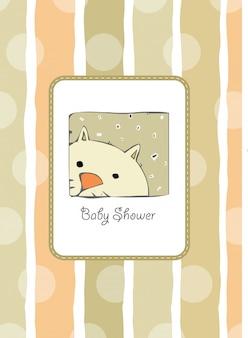 Nueva tarjeta de baby shower con gato