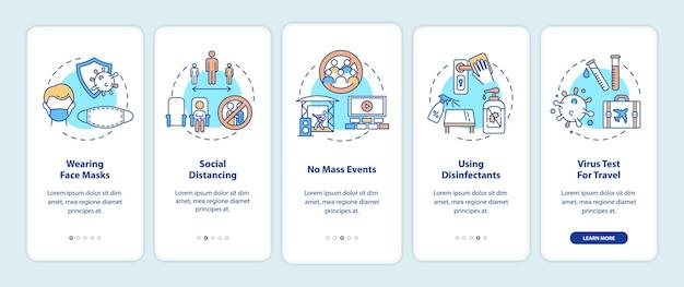 Nuevas reglas públicas que incorporan la pantalla de la página de la aplicación móvil con conceptos