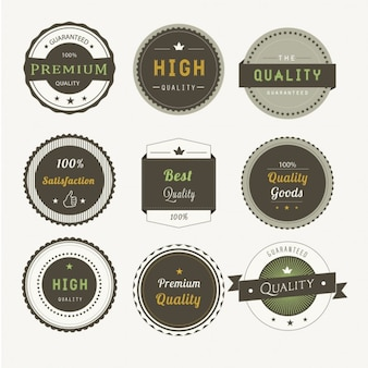 Nueve insignias premium