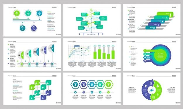 Nueve plantillas de diapositivas de gestión