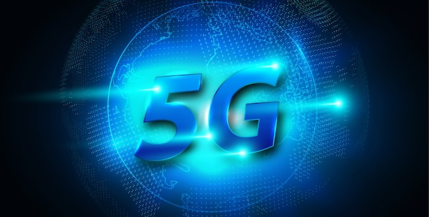 Nuevo banner de conexión wifi a internet inalámbrico 5g