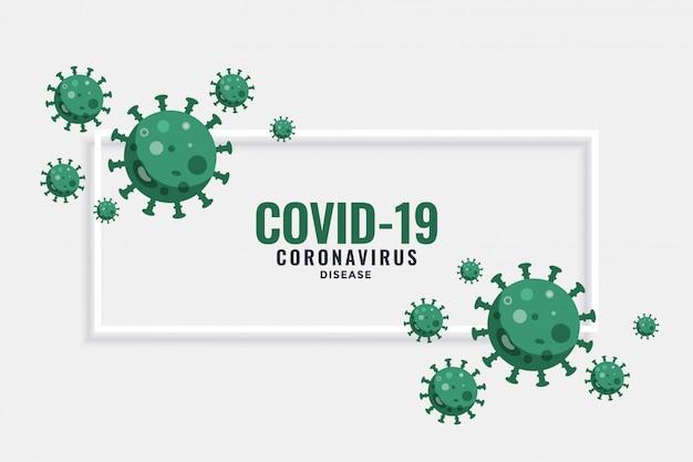 Nuevo banner de coronavirus covid-19 con células virales