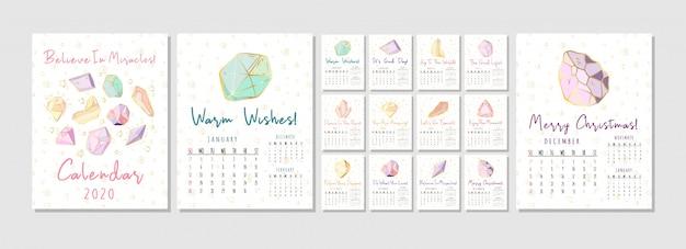 Nuevo calendario de cristales