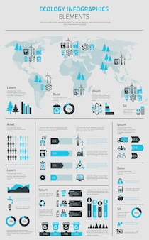 Nuevo cartel de plantilla de infografías de energía y transposición eléctrica