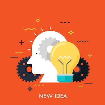 Nuevo concepto de idea innovación