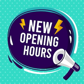 Nuevo concepto de signo de horario de apertura