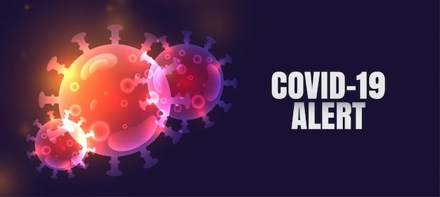 Nuevo diseño de banner de alerta de pandemia de coronavirus covid-19