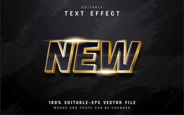 Nuevo efecto de texto dorado