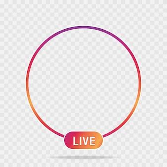 Nuevo icono de redes sociales avatar en vivo video streaming degradado colorido elemento para red social, web, móvil, interfaz de usuario, aplicación vector eps 10.