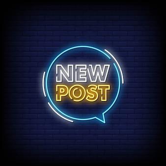Nuevo poste de letreros de neón
