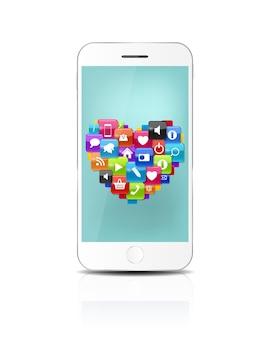 Nuevo teléfono móvil realista con pantalla azul. ilustración de vector. eps10