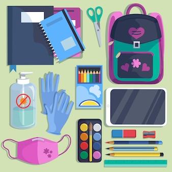 Nuevos útiles escolares normales