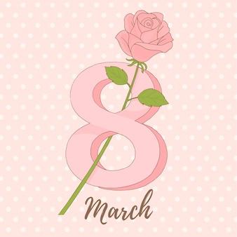 Número 8, feliz día de la mujer