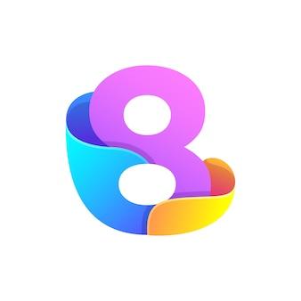 Número abstracto colorido 8
