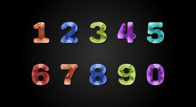 Número abstracto moderno. tipografía estilo urbano para tecnología, digital, película, diseño de logotipos
