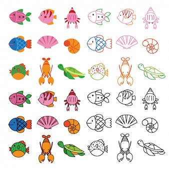 Número de animales de diseño vectorial.