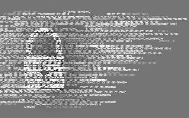 Número de código binario de señal de guardia de bloqueo digital, big data personal