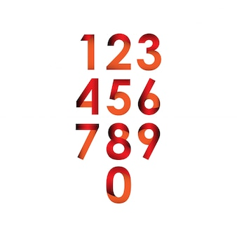 Número conjunto vector plantilla diseño ilustración