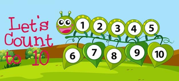 Número de conteo matemático a diez