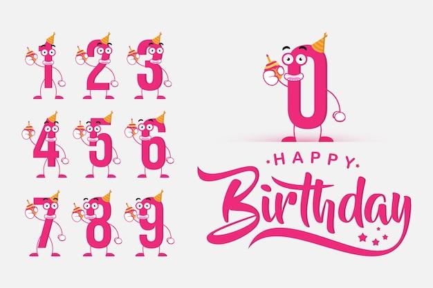 Número de cumpleaños lindo y divertido