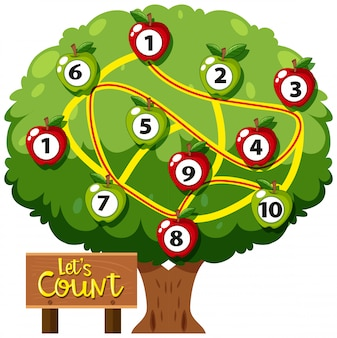 Número de cuenta matemática juego