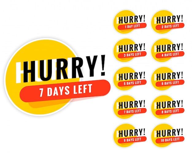 Número de días para el diseño del banner promocional.