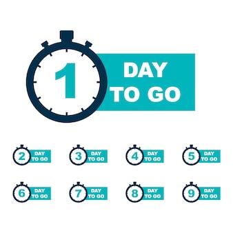 Número de días para el final.
