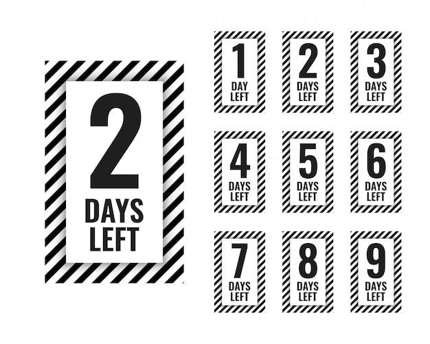 Número de días que queda el temporizador de cuenta regresiva