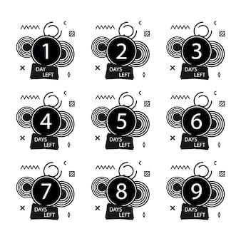 Número de días que quedan configurados