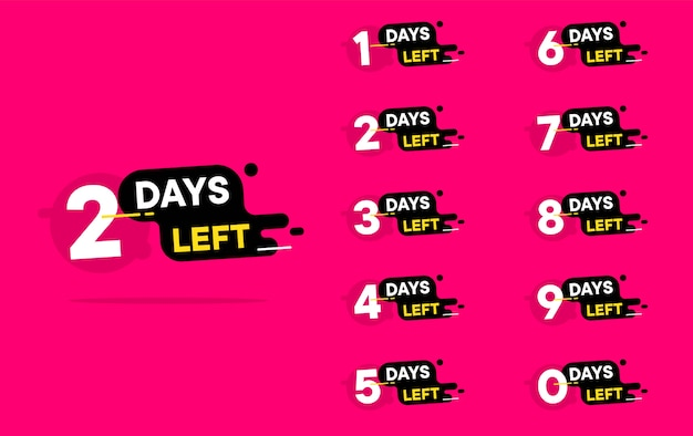 Número de días que quedan cuenta atrás