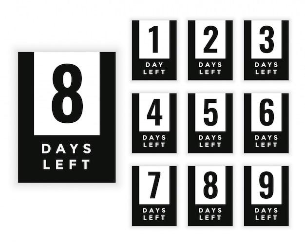 Número de días que quedan para la insignia o el diseño de la etiqueta.