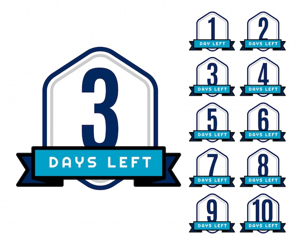 Número de días que quedan temporizador de cuenta atrás para la venta y promoción