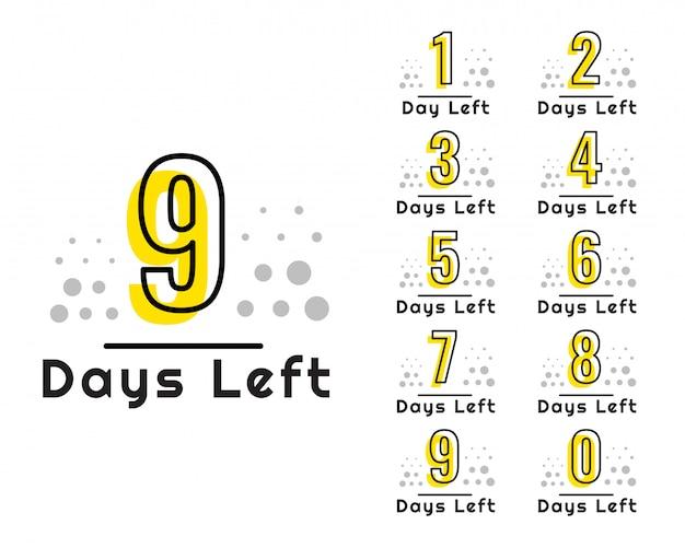 Número de días que quedan temporizador de cuenta atrás