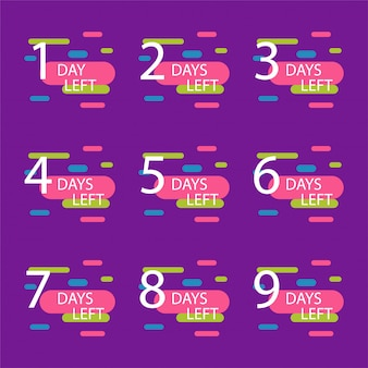 Número de días restantes