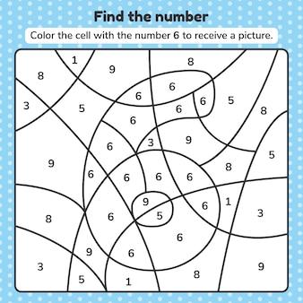 Número de libro para colorear para niños