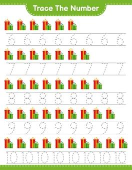 Número de seguimiento con cajas de regalo